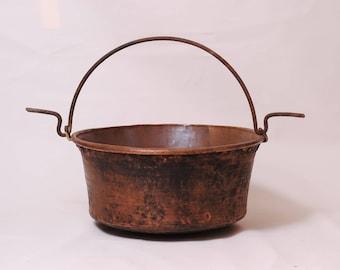 copper cauldron large antique french Witch's cauldron