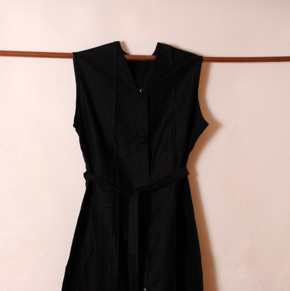 black maxi farmer's dress/apron