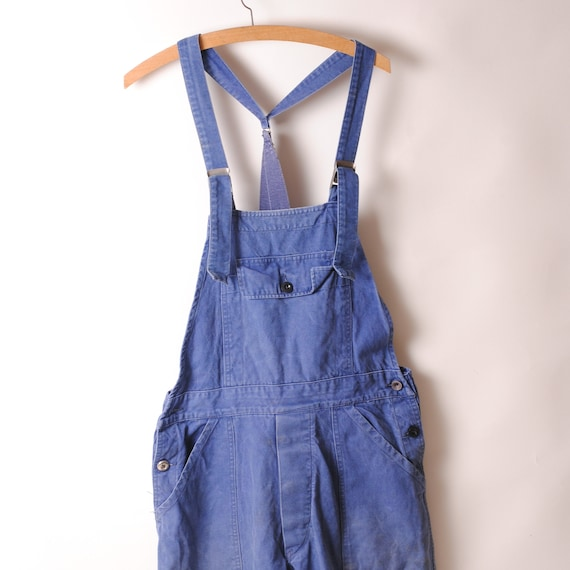Français work jumpsuit 60s coveral overall work We