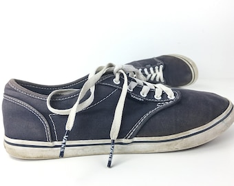 8233912f76 8.5 Vans Shoes California Daze Blue Tie Sneakers Vintage Low Top Canvas  Sneaker Women Size