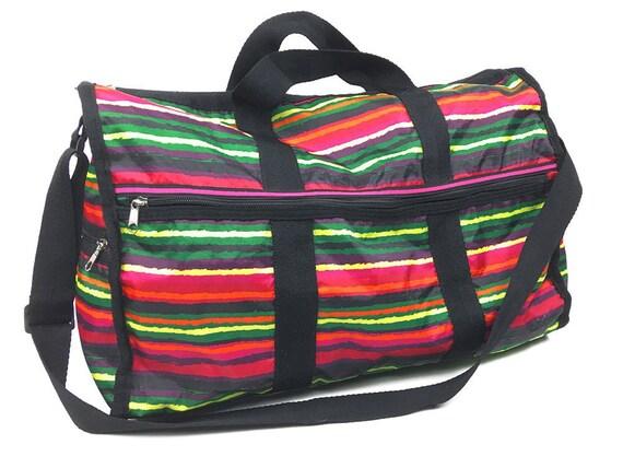 2839667adf1d Rainbow Duffel Bag Vintage Multicolor Gym Bag Red Orange