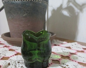 Vintage Emerald Green Paragon Candle Holder, Votive Candle Holder, No. 739, OshKosh, Tulip Candle Holder