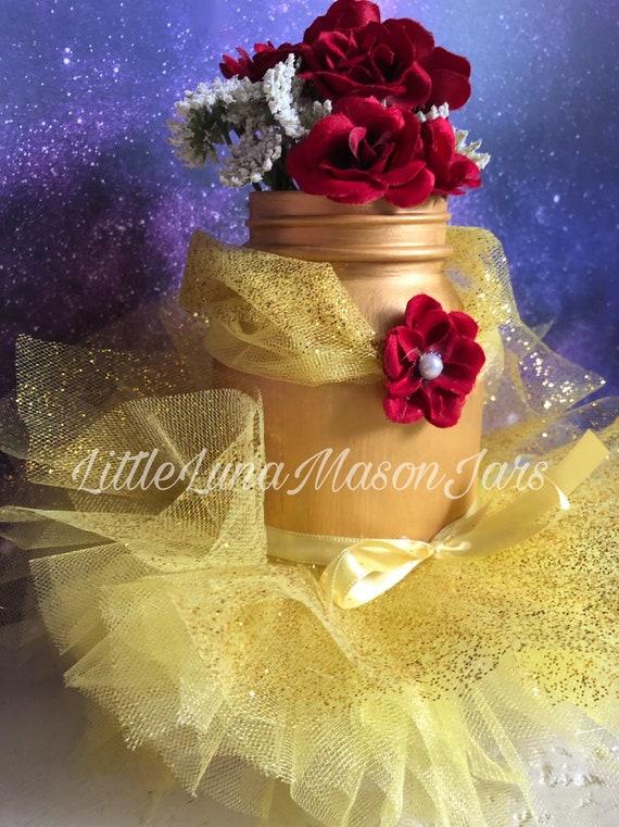 Quart Sized Princess Belle Jarla Belle Et La Bête Fairy Tale Inspired Party Birthday Party Centerpiece Room Decor