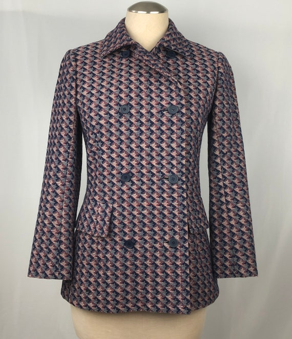 1960s Givenchy double-breasted jacket xs small 60… - image 1