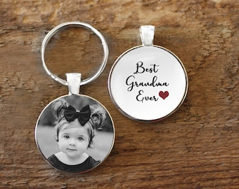 Grandparent Set KC WSNANG Grandparent Gift Worlds Most Awesome Grandma Grandpa Keychain Thank You Gift for Grandma Grandpa