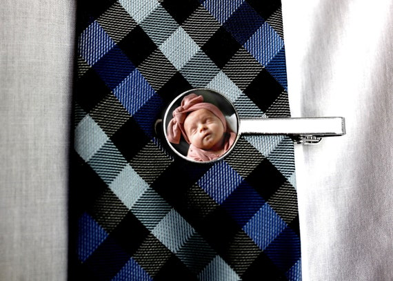 ref A16 Custom engraved personalised tie clip  bar in gift pouch