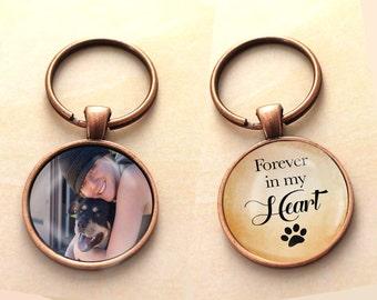 Custom Pet Key chain, Dog keychain, Dog necklace, Double Sided, Reversible, Photo Pet Charm, Pet Charm, Pet Memorial