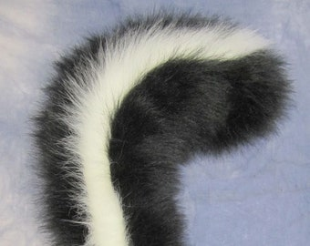Black and White Skunk Tail - Made to Order