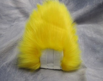 Yellow over White Bunny/Deer Tail - READY TO SHIP