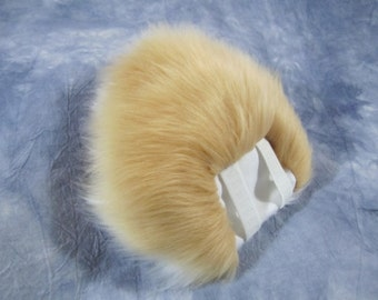 Faux Fur Costume Beige over White Bunny Tail - READY TO SHIP