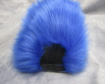 Blue over White Bunny/Deer Tail - READY TO SHIP
