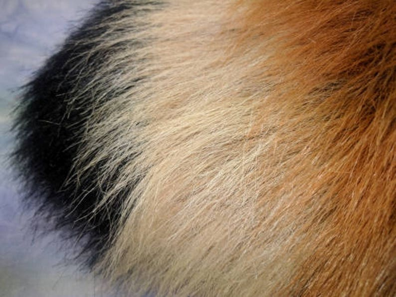 Faux Fur Costume Curvy Red Panda Tail READY TO SHIP