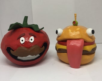 0727e863d onesie outfit in fortnite br. Durr Burger Etsy - 3d printed fortnite durr  burger and tomato head combo durr burger mascot