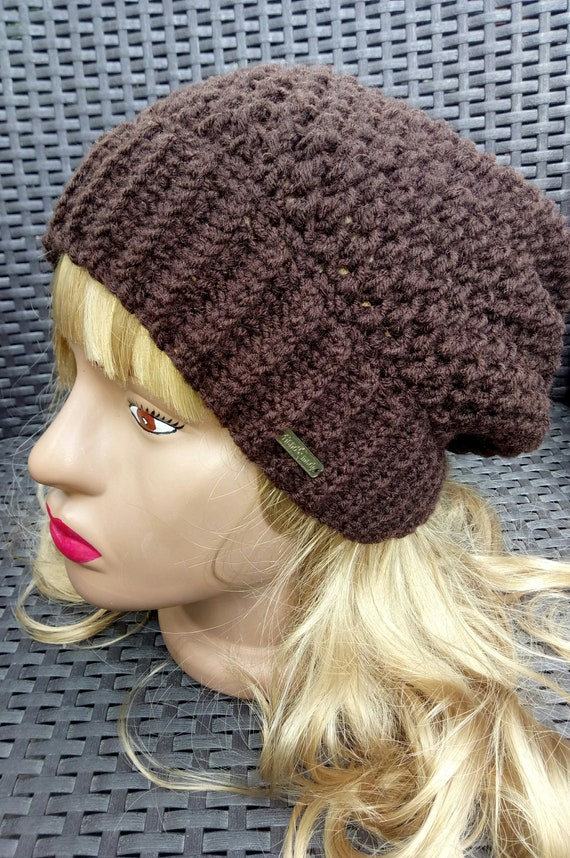 fcacf84a1db women s knitted hat color chocolate color brown large