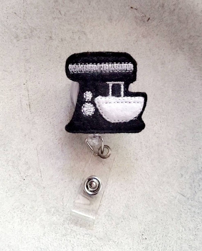 Mixer Badge Reel Food Badge Reel Baking Badge Reel