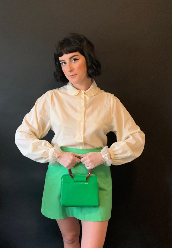 1960s Sears Blouse with Peter Pan Collar size Medi