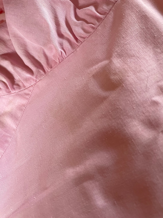 1940s Victorian Costume Pink Prairie Dress with J… - image 7