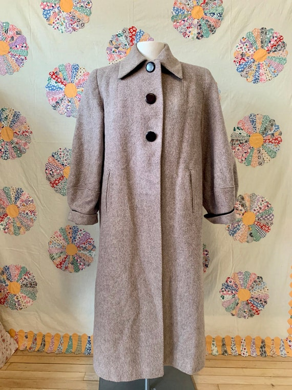1940s Lady Barrington of New York Pink Grey Wool C
