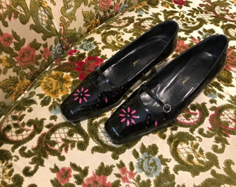 Dolce & Gabbanna Loafer Kitten Heels Mary Jane Shoes size 37.5