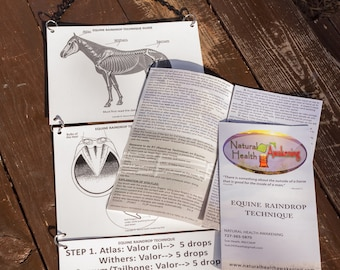 Equine Raindrop Technique Guide and instructional Brochure