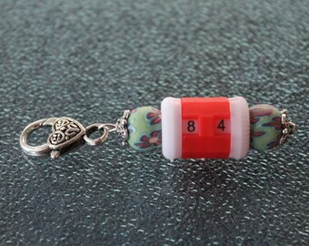 Beaded Row Counter Removable Progress Keeper Stitch Marker Crocheters and Knitters SPK448