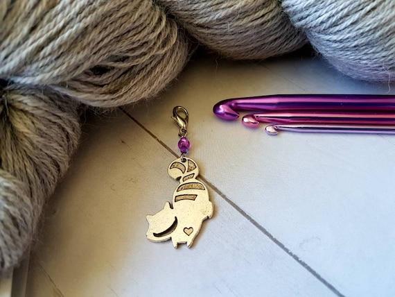Purse Stitch Marker Progress Keeper