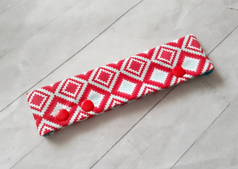 Cover Red and Blue Diamonds  DPN Cozy for 6 DPNs Holder