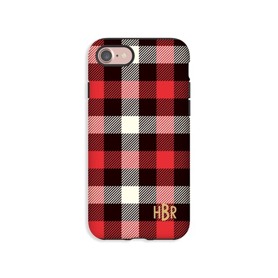 new arrival e965f 50570 Lumber Jack Plaid iPhone 8 case, monogram iPhone 8 Plus case, iPhone XS  case, iPhone 7 Plus/iPhone 7 case, iPhone 6s/6s Plus/6/6 Plus cases
