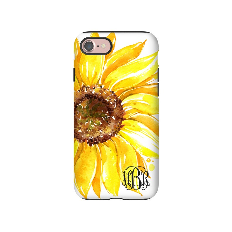 new arrival af5cb b274e Monogram iPhone 8 case, sunflower iPhone 8 Plus case, iPhone XS case,  sunflower iPhone 7/7 Plus/6s/6s plus case, iPhone 6 Plus case/6 case