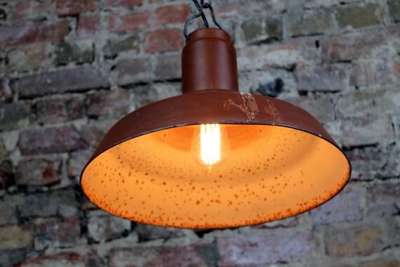 Lampada Vintage Industriale : Urss luce marrone lampada vintage fabbrica industriale lampada etsy