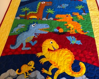 Dinosaur Quilt Etsy