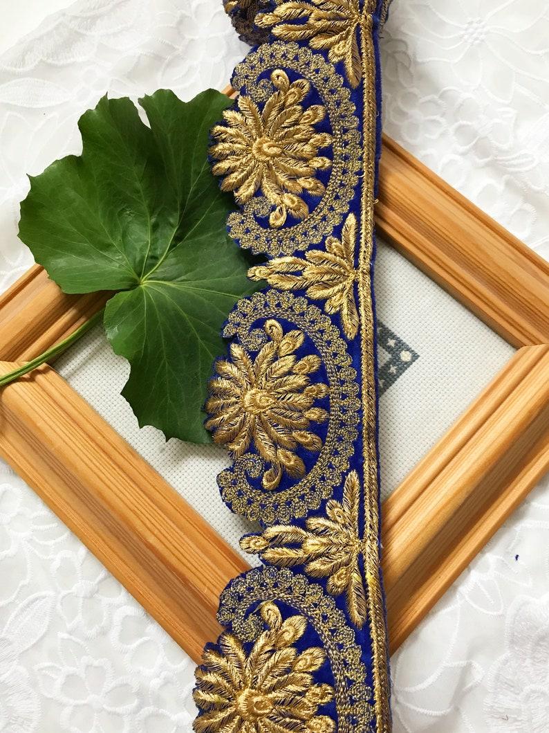 1 Yard Latest Indian Cutwork Zari Thread Golden thread work Lace Trim Border