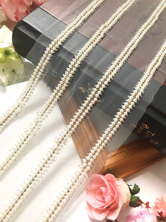 Beautiful Net and Pearl 1.5cm