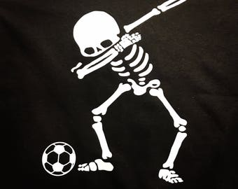 d2d25a9501a Dabbing soccer playing skeleton