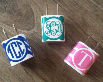 50ea6e5c6 iPhone Monogrammed Charger Wrap in Chevron