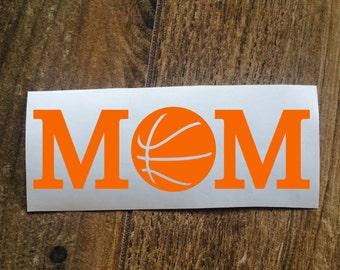 Basketball Mom Decal Sticker / Laptop Decal / Car Window Decal Sticker / Mother Yeti Decal Sticker / Sports Mom Decal / Basketball Sticker