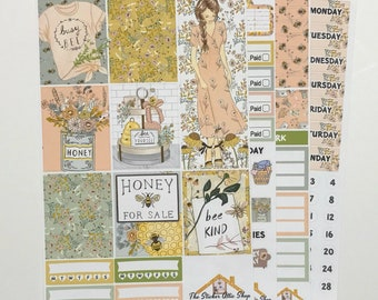 Planner Stickers Candle Girl Fashion Farmhouse Life || Shabby Home FULL KIT Spring Rustic