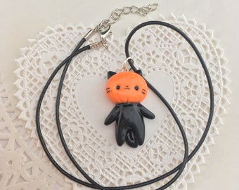 Pumpkin Cat Necklace