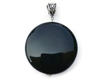 925 Sterling Silver Pendant,Handmade Pendant Black Gemstone Pendant Boho Pendant- Design N0- PBON-002 Christmas Gift Black Onyx Pendant
