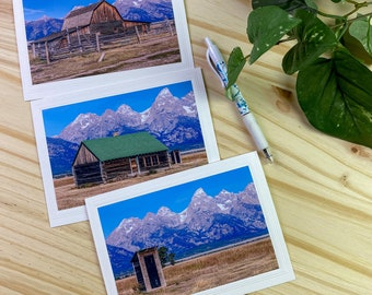 Wyoming Photo Note Card, Blank Card, set of 3, 4x6 Photography mounted on 5x6 7/8 Card, Greeting Cards, Inspirational Note Cards.