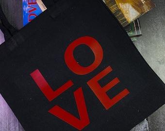 Personalize bag, tote bag, black bag, cotton bag, reusable bag, beach bag, grocery store bags, shopping bag, travel bag, gym bag, gift.