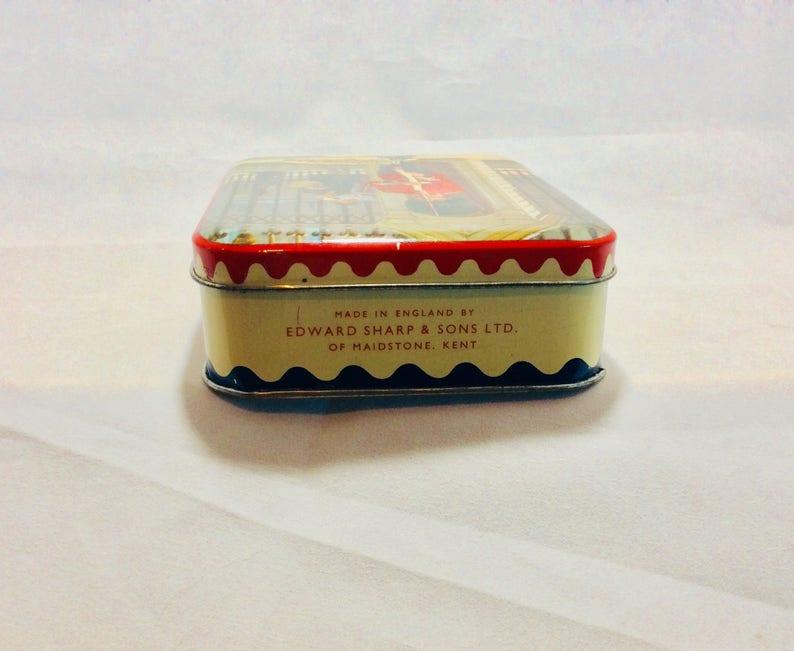 Candy Tins French Tissot Raspberry Drop Tin /& English Edward Sharp Toffee Tin