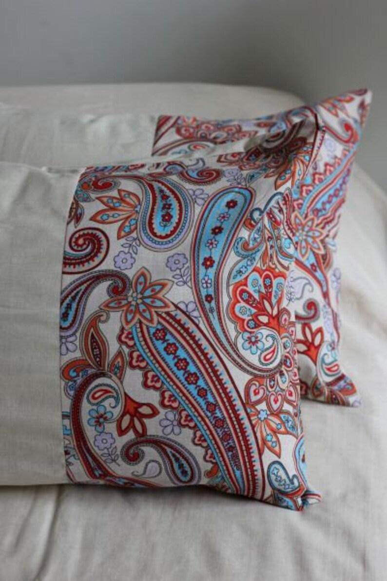 Bettwäsche Mit Einem Orientalischen Muster Aus Natürlichen Etsy