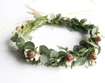 Flower Crown - Fresh Flower & Greenery - Real Flowers + Greenery!