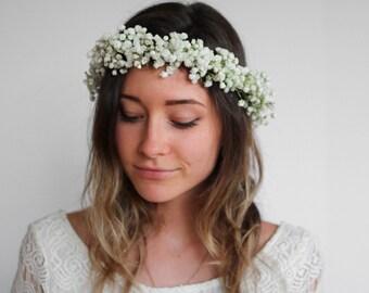 Flower Crown - Fresh Baby's Breath / Gypsophila Crown - Real Flowers!