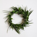 Fresh Tropical Greenery Crown - Real Greenery! Hawaiian / Tropic Style Halo Crown for Weddings, Showers, Bachelorette Parties & Other Events