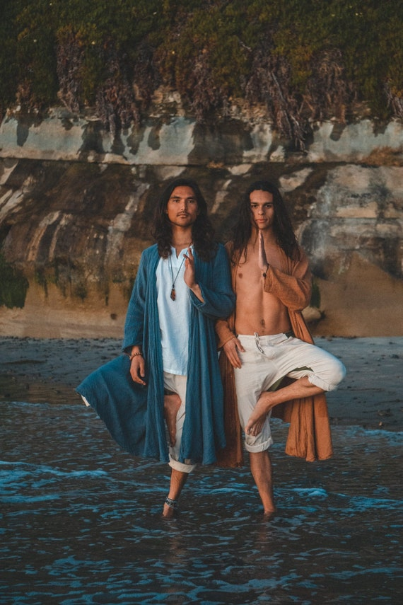 Cotton Robes in INDIAN SAPPHIRE // Duster Jacket // Ancient Healer, Channel the Earth