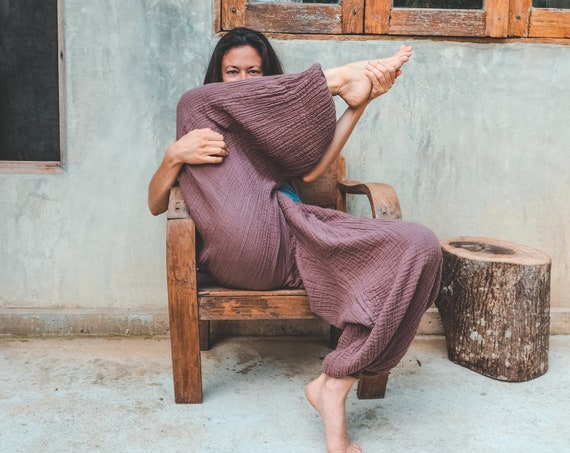 Dakini Pant in DESERT ROSE // Luxe Cotton, Pockets // Stretch Fully, Breathe Like a Queen