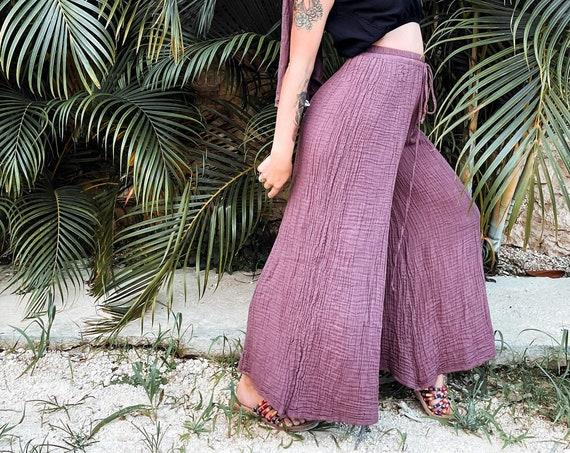 Kuan Yin in DESERT ROSE // Soft Cotton Drawstring Pant // Flow like Water