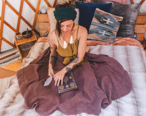 Sophia Skirt in DESERT ROSE // Soft Lux Cotton Tiered Skirt // A Classic Skirt for Coziness